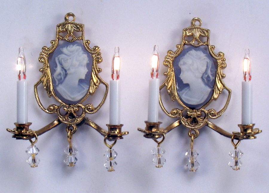 J. Getzan, Dollhouse Miniatures, Chandeliers, Sconces