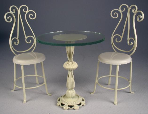 wrought iron bistro table and chair set 1